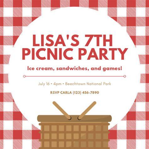 customize  picnic invitation templates  canva