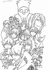 Coloring Anime Soul Eater Pages Manga Deviantart Colouring Characters Sheets Printable Drawing Geek Collage sketch template