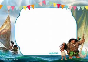 Free moana birthday invitation template drevio invitations design for Moana template