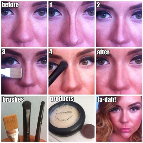 makeup tricks    nose  smaller beautiful shoes