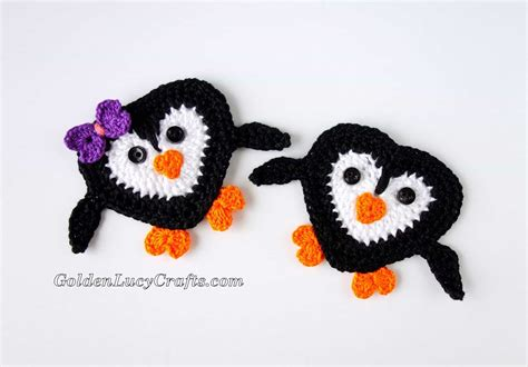 Penguin Applique Penguin Applique Free Crochet Pattern Goldenlucycrafts