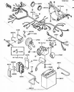 Kawasaki Motorcycle 1986 Oem Parts Diagram For Chassis