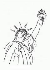 Liberty Statue Coloring Memorable Bestcoloringpagesforkids Via sketch template