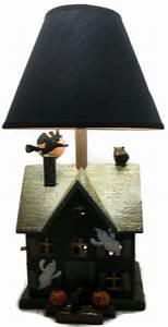 Halloween, Lamp, Haunted, House, Handmade, Double, Light, Home, Decor, Lighting, This, Lamp, Was, Created