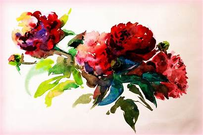 Watercolor Flower Painting Paint Drawing Flowers Paper
