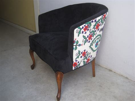 Refurbished Vintage Suzani Barrel Chair By Elysejean On