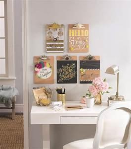 Schreibtisch An Der Wand : klemmbrett benutzen f r ihre kreative wanddeko ideen ~ Markanthonyermac.com Haus und Dekorationen