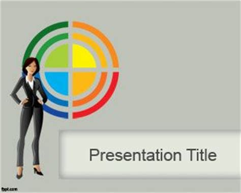 lady powerpoint template