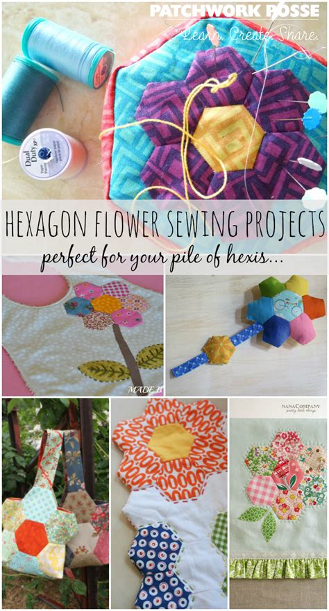 sewing projects  hexagon flowers