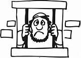 Jail Joseph Coloring Sheet Template Pentateuch Genesis Sketch sketch template