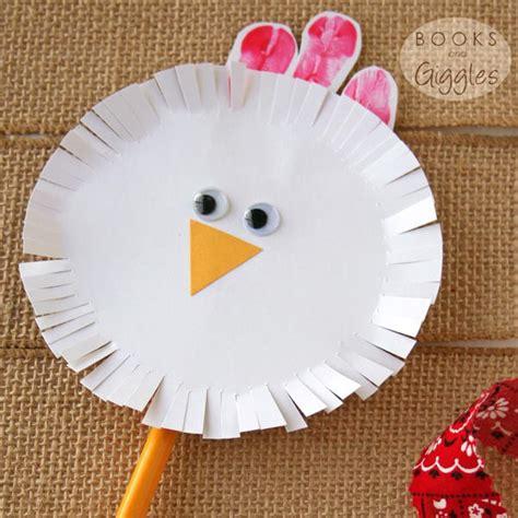 spinning chicken craft  toddlers preschoolers