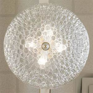 Murano bubbled clear glass dome ceiling fixture at stdibs