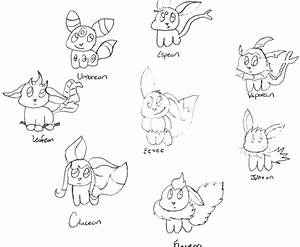 Pokemon Coloring Pages Eevee Evolutions All - vitlt.com