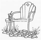 Chair Patio Chairs Clipart Stamps Coloring Digital Embroidery Garden Clip Cross Pages Stitch Outside Digi Lawn Drawing July Cartwheeling Through sketch template