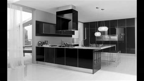 modern black and white kitchen designs ultra modern black and white kitchen decorating interior 9754