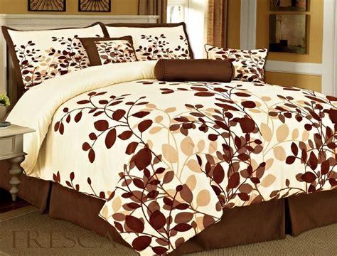brown comforter sets queen coffee brown flocking