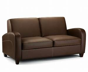 vivo 4ft chestnut brown faux leather pull out sofa bed With faux leather pull out sofa bed