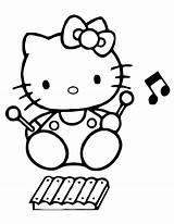 Coloring Xylophone Kitty Pages Hello Colouring Printable Playing Cute Drawing Fancy Cross Adult Sheets Cartoon Cat Clipartmag Books Similar Check sketch template