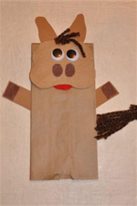 balak donkey paper bag puppet