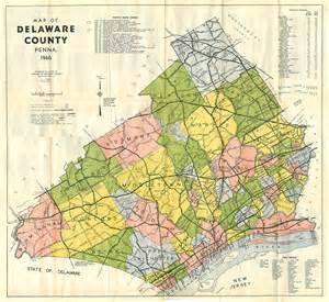 Delaware County PA Map