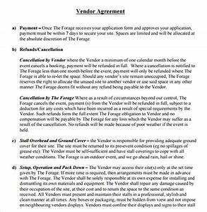 14 vendor contract templates samples examples format With wedding vendor contract template