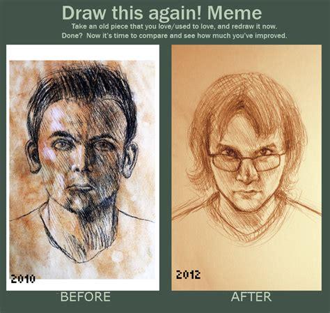 Portrait Meme - draw this again meme self portrait comparison by josiah sparklepants on deviantart