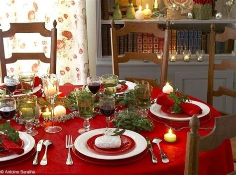 deco table noel  idees de decorations pour