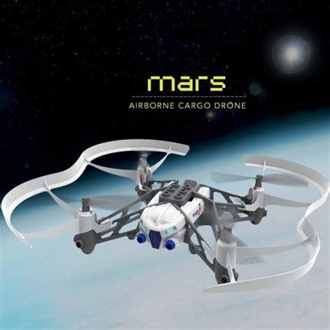 parrot airborne cargo minidrone mars white yuppie gadgets