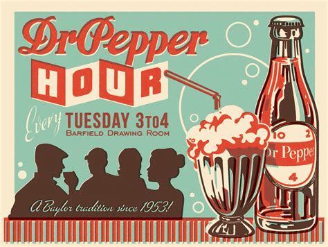 New Dr. Pepper Hour Poster