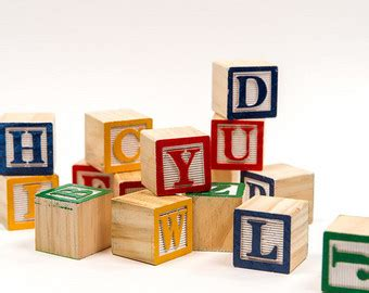 wood block letters wood blocks etsy