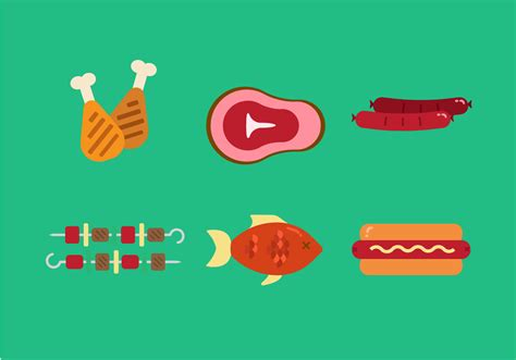 vector family picnic foods   vectors