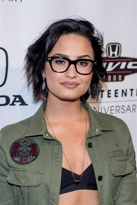 short black bob demi lovato hair pictures popsugar