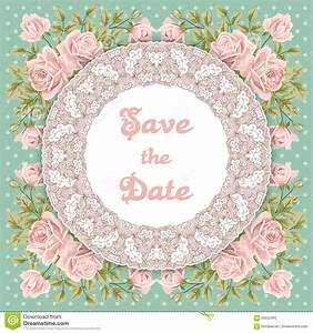vintage wedding invitation with roses stock vector image With vintage wedding invitation with lace free vector