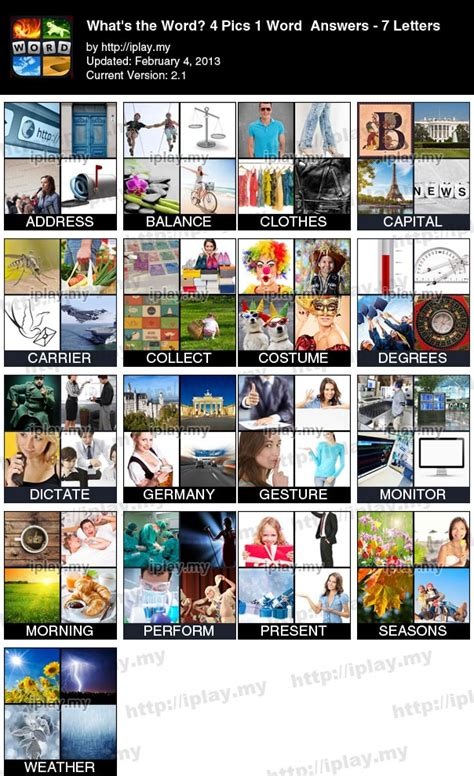 4 pic 1 word 4 letters 4 pics 1 word answers list with pictures iplay my in 4 33149