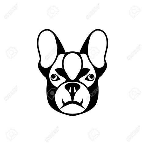 vector dog head face  retro hipster logos emblems