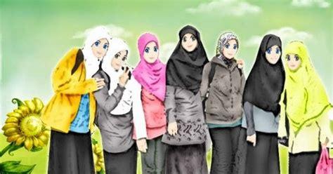 Anime Cantik Islami Gambar Animasi Keren Gambar Kartun Sekolah Islami Untuk Anak