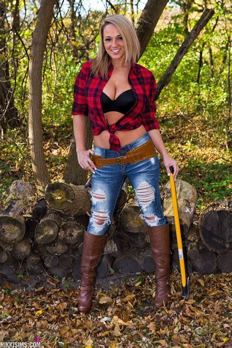 Nikki Sims Plaid Lumberjack Shirt