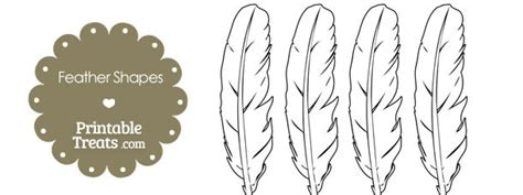 Indian Headdress Template by Printable Feather Shape Templates Printable Treats