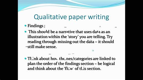 hayter mark writing qualitative research papers  international peer review journals youtube