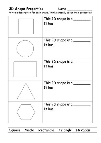 2d and 3d shape worksheets by ehazelden teaching