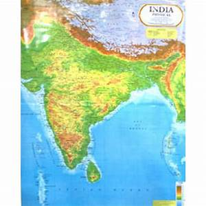 Buy India Physical Map [100x70 cm] Online at low prices in