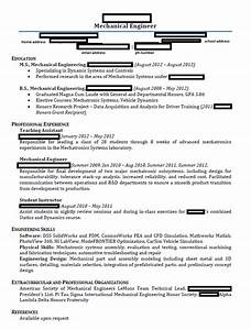 mechanical engineering student resume resume template 2018 With engineering student resume