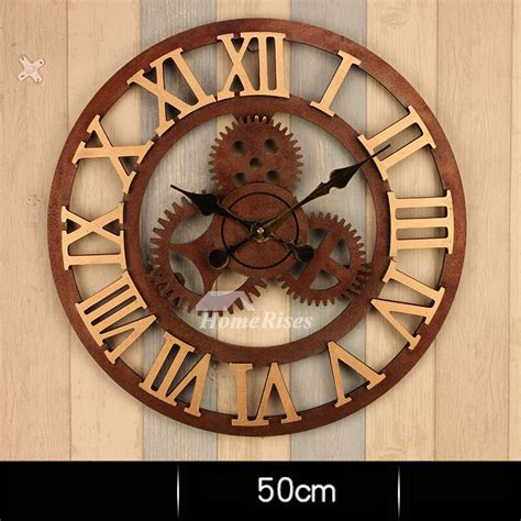 gear wall clock    large mechanical industrial