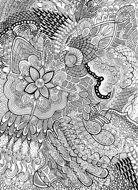 flower pattern coloring pages coloring home