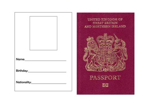 passport template  torstout teaching resources tes