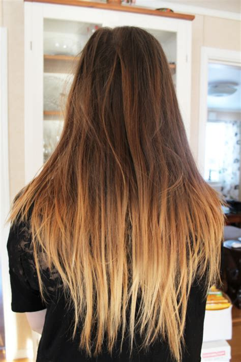 Long Ombre Hair 2014 Straight Choppy And Dip Dyed Long