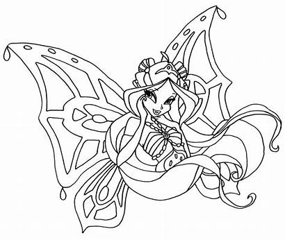 Winx Coloring Ausmalbilder Enchantix Flora Coloriage Most
