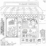 Coloring Colouring Pages Adult Bakery Coffee Flower Books Fantasy Shops Own Sheets Printable Para Cosmetic Decorate Colorir Drawings Sketch Colour sketch template