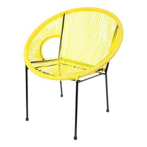tati canapé fauteuil acapulco jaune 72 x d 63 x h 78 cm