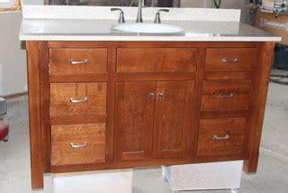 custom built mission style vanity craftsman  york